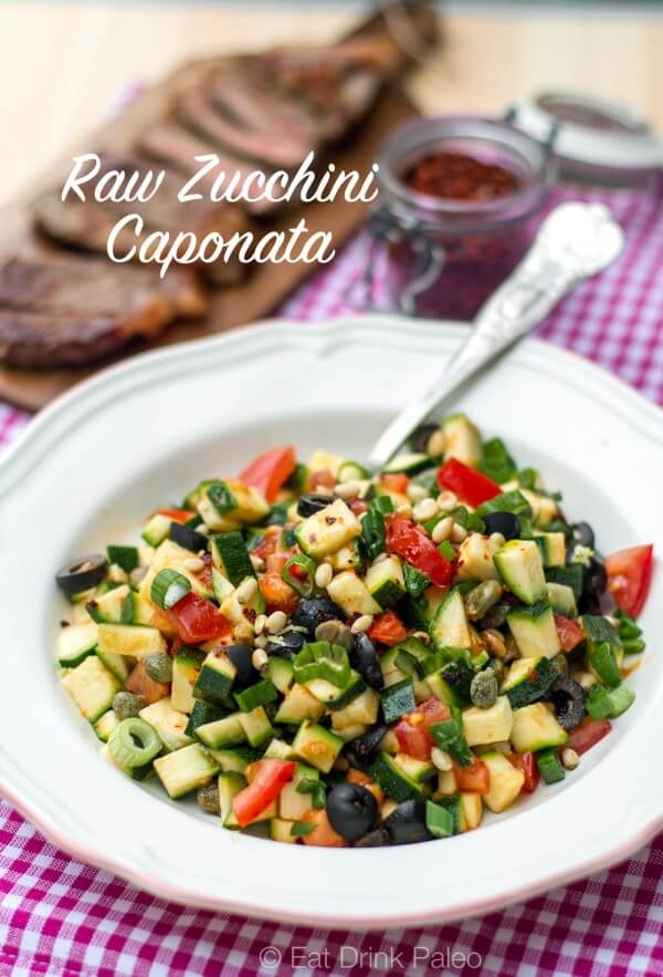 This Awesome Plant-Based Raw Recipes Make You A Convert-Raw Zucchini Caponata